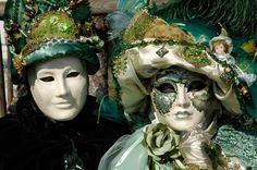 Two masks at carneval in Venice