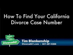 How To Find Your California Case Number  This video is about California divorce case number and we will talk about how you can find your California divorce case number and why would you want to find it.