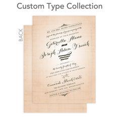 Signature Custom Wedding Invitations Elegant Tilt