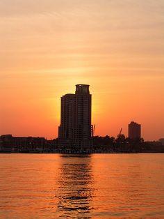 """Baltimore Sunset"" (By: Grandma Web)"
