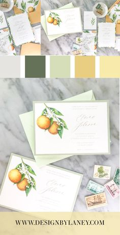 The Tropical Orange watercolor wedding invite has a beachy wedding feel to it. We imagine a tropical island wedding with this suite, and the back of the invitation serves as an art piece for your guests to enjoy year after year! Mix and match envelope and text colors to make this wedding invite ideal for your Big Day. See below for all the details and corresponding pieces!