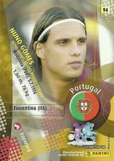 2002 Panini World Cup #94 Nuno Gomes Back