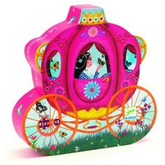 A delightful puzzle of Elise in her carriage in a silhouette card box.Size: Completed jigsaw x 54 piece puzzle. Puzzle pieces approx 6 x Material: Card Age: Puzzle Djeco, Puzzle Toys, Princess Carriage, Puzzles For Kids, Tiny Flowers, Puzzle Pieces, Little Princess, Educational Toys, Ideas