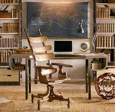 wooden desk chair