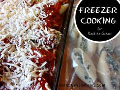 Freezer Cooking for Back To School - easy #realfood #recipes, including crockpot-to-freezer meals