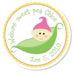 Sweet Pea stickers/ labels
