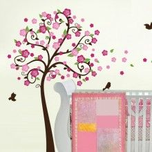 Flower Tree Birds & Branch Wall Decal $115.00 www.decalmywall.com