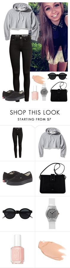 """""""Pm? -Abbey"""" by lost-souls-anons on Polyvore featuring Frame, Vans, Essie and Too Faced Cosmetics"""