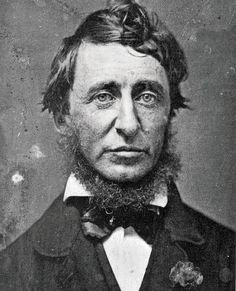 "Henry David Thoreau.  ""Aim above morality. Be not simply good, be good for something."""
