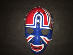 John Garrett Quebec Nordique Vintage Nhl Goalie Mask Don Scott Mask Maker Hockey Goalie, Ice Hockey, Quebec Nordiques, Goalie Mask, Masked Man, Face Off, Sports Equipment, Nhl, Old School