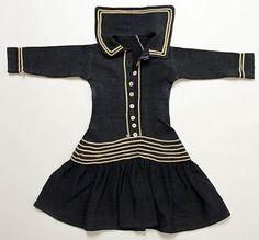 1880's child's sailors dress