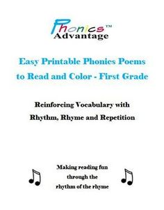 Phonics Advantage Easy Printable Phonics Poems are perfect poems for teaching phonics.  Included in the digital download are 15 short phonics poems...