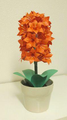 Hyacinth flower centerpiece/ Origami Flower design LadyOrigami at Etsy $45.00
