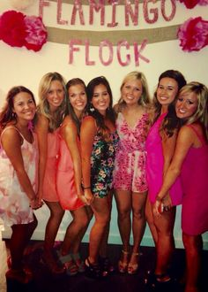 Flamingo Flock Date Party! Everyone wears pink...how perfect for Phi Mu? #olemiss