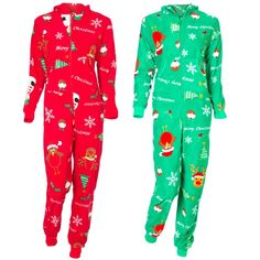 Ladies Christmas PJ's | Womens Ladies Xmas Christmas Jumpsuit Onesie Onesie Pyjamas Santa ...