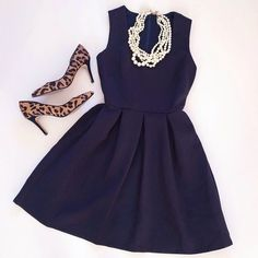 Stitch Fix Inspiration- love the idea of a classic dress then style it fun accessories.