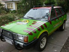 This Custom Painted Jurassic Park Car is Amazing on Global Geek News.