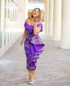 Today we've rounded up some gorgeous ankara dress styles. Hope you find something to inspire your next ankara dress. Ankara style with the lace Asoebi. Check out the one-sleeve best Ankara dress Nini rocked, it has such breeding and class. African Fashion Ankara, Latest African Fashion Dresses, African Dresses For Women, African Print Dresses, African Print Fashion, African Attire, African Women, Ghanaian Fashion, African Outfits