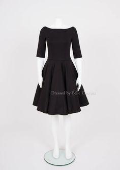 """Stretchkleider - puristisches Basic Kleid """"Audrey"""" Herbst/Winter - ein…"""