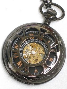 Groomsman Gift Pocket Watch Steampunk  by GlazedBlackCherry, $44.99
