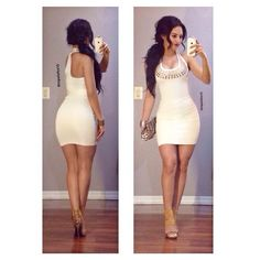Find this gorgeous dress ladies! Dance Outfits, Dress Outfits, Cute Outfits, Fashion Outfits, Womens Fashion, Tight Dresses, Sexy Dresses, Cute Dresses, Short Dresses