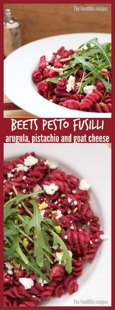 Beets-pistachio Pesto Kamut Fusilli can be surprising for some, but you should try it, I guarantee you won't be disappointed.