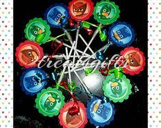 Pj masks birthday - Pj masks party favors - Pj masks - Pj masks candy - Pj masks goody bags - Pj masks party - Pj masks lollipops