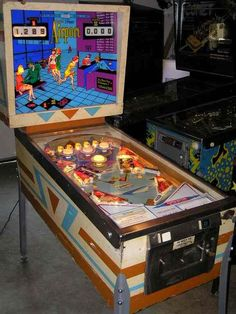 Airport pinball (Gottlieb - so many quarters at the bowling alley after league. Flipper Pinball, Video Game Machines, Pinball Wizard, Machine Photo, Penny Arcade, Vintage Neon Signs, Arcade Machine, Vintage Games, Retro Toys