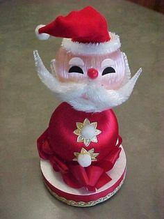 Satin Ornament Santa Vintage Christmas Decoration Japan