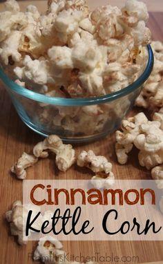 Cinnamon Kettle Corn
