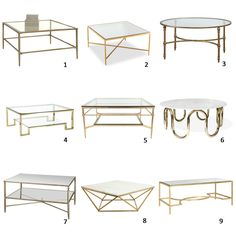 AM Dolce Vita: A Roundup of Brass and Glass Coffee Tables - Interior Decoration Accessories coffee tables Coffee Table Furniture, Coffee Table Design, Living Room Furniture, Living Room Decor, Glass Coffee Tables, Glass Tables, Sofa Design, Furniture Design, Home Interior Design