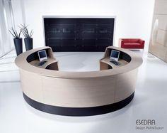 Banque d'accueil ESEDRA, 330X167 cm, Design Perin & TOPAN