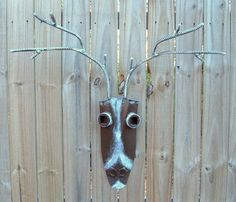 Deer Iron Art Home Decor Handmade Iron Deer Head by FrogLevelFarm, $48.00
