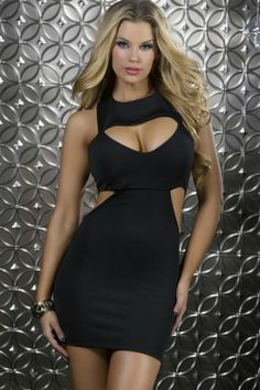 Polished and #posh, this #cutout dress from Forplay is sure to make a big impression! A definite for the #disco, can also be worn casually on a hot #summer day!  Polished Edgy Cutout Mini Dress