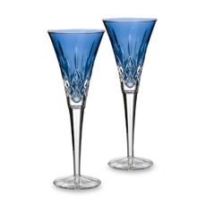 Waterford Lismore Sapphire 6-Ounce Toasting Flute (Set of 2)