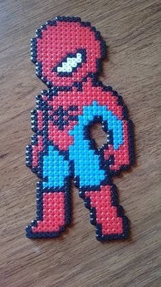 bead sprite représentant un petit Spiderman Pokemon Perler Beads, Diy Perler Beads, Hama Beads Minecraft, Perler Bead Art, Pearler Beads, Melty Bead Patterns, Pearler Bead Patterns, Perler Patterns, Beading Patterns