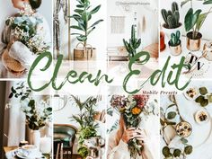 Clean Edit - 5 Mobile Lightroom Presets - La Dolce Vita Me Clean, Warm Colors, Lightroom Presets, Overlays, Photo Editing, Cleaning, Table Decorations, Theme Ideas, Filters