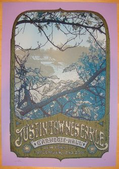Justin Townes Earle - silkscreen concert poster (click image for more detail) Artist: David Welker Venue: Carnegie Hall Location: NYC, NY Concert Date: 12/2/2011 Edition: Artist Proof edition of 1; si