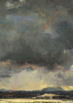 Texture&Tone  Théodore Rousseau, Sunset in the Auvergne (detail), 1844 (x)