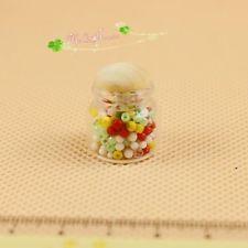 1:12 miniature dollhouse accessories chubby glass candy jar  Puppenhaus