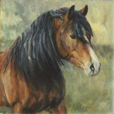 English Moor Pony Oil Painting Pet Art Exmoor Horse British Isles ...