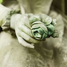 Shades of sage green on a statuary of a woman who is thought to be the original mistress of Sage Farm holding a single rose in her hand. Sculpture, World Of Color, Belle Photo, Shades Of Green, 50 Shades, Beauty And The Beast, Green Colors, Olive Green, Green Rose