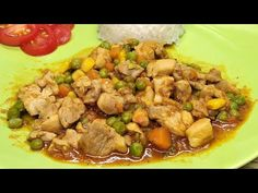 Zöldséges csirkecomb filé rizzsel, uborka salátával - YouTube Kung Pao Chicken, Beef, Make It Yourself, Ethnic Recipes, Youtube, Food, Meat, Essen, Meals