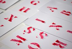 Wax lettering/http://www.losiento.net/