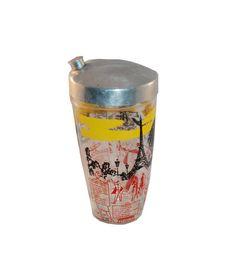 Vintage 50 Cocktail Shaker Paris Scenes Drink by MadgeAtHome, $25.00