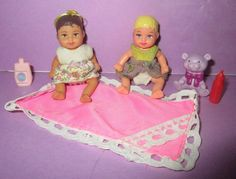 Barbie Happy Family Baby Krissy Chrissy Infant Brunette Hair w/ Outfit Toys Lot #Mattel