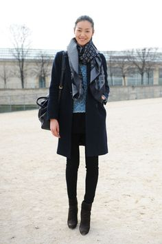 Liu Wen media gallery on Coolspotters. See photos, videos, and links of Liu Wen. Modell Street-style, Liu Wen, Winter Stil, Inspiration Mode, Fashion Inspiration, Street Style, Models Off Duty, Black Skinnies, Black Jeans