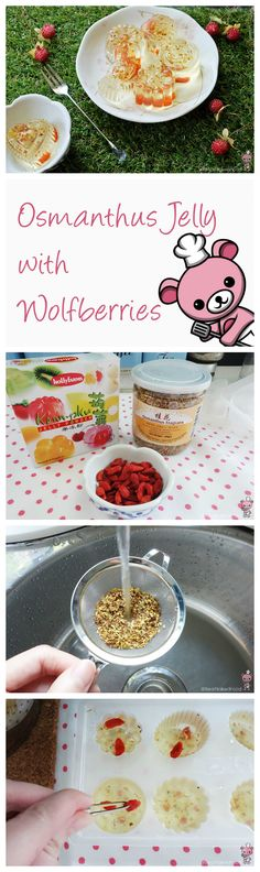 Today's recipe is dedicated to all amazing mums out there (Mother's Day this weekend!). This yummy Osmanthus Flower Jelly with Wolfberries is a nutritious dessert using traditional Chinese medicinal ingredients that promotes various health benefits, as well as smooth & radiant skin complexion too! Who doesn't love that?  <3 <3