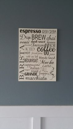 A personal favorite from my Etsy shop https://www.etsy.com/listing/253244304/barista-coffee-espresso-subway-style