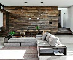Idées pour le salon - revêtement mural bois